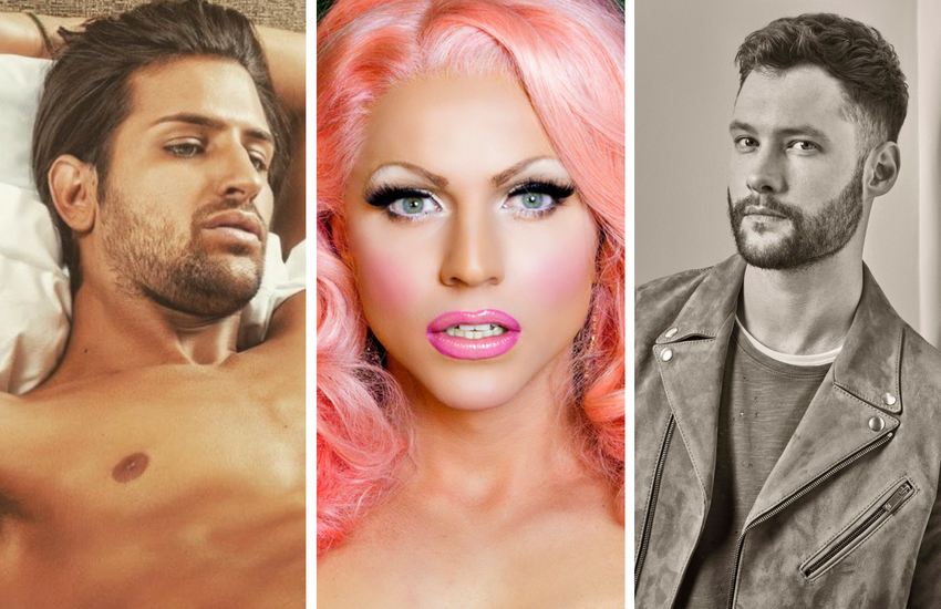 Left to right: Ollie Locke, Courtney Act and Calum Scott | Photos: Instagram
