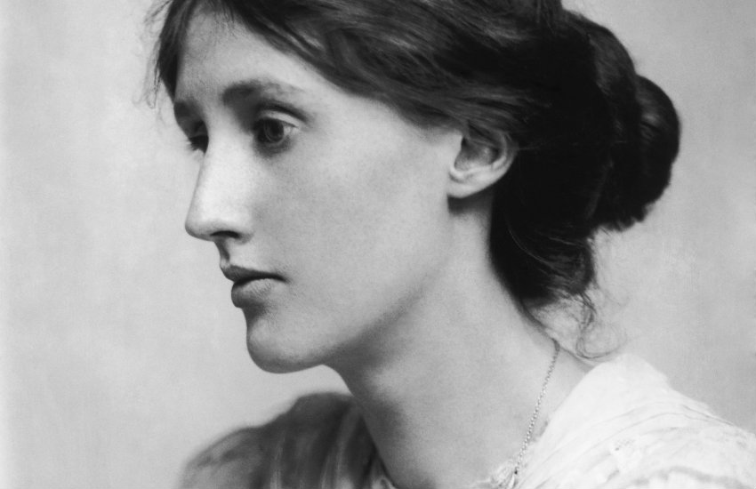 Profile portrait of Virginia Woolf