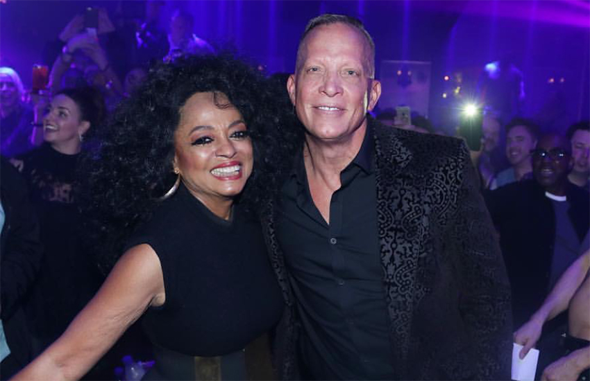 Diana Ross and The Abbey's owner, David Cooley