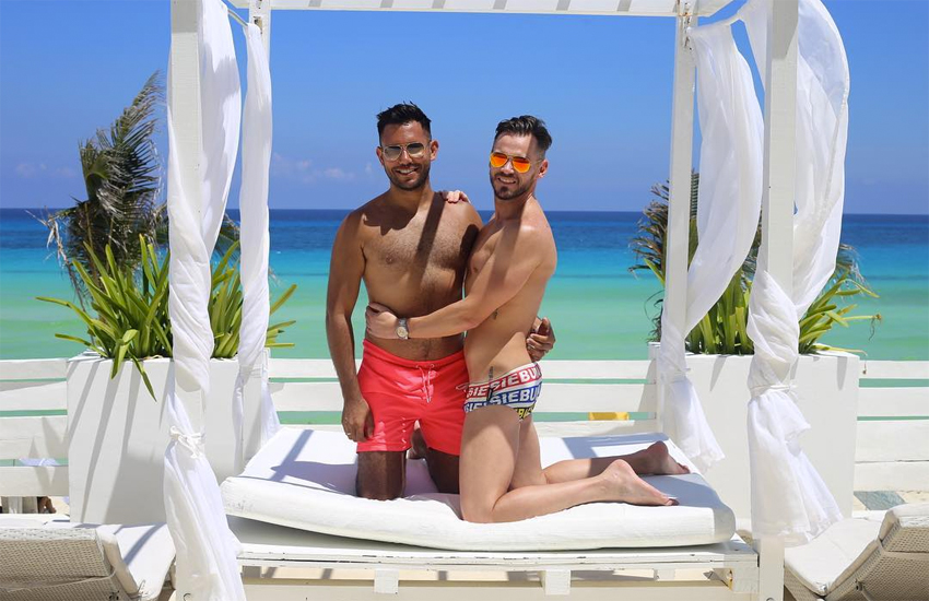 Doug and Sanj in Mexico