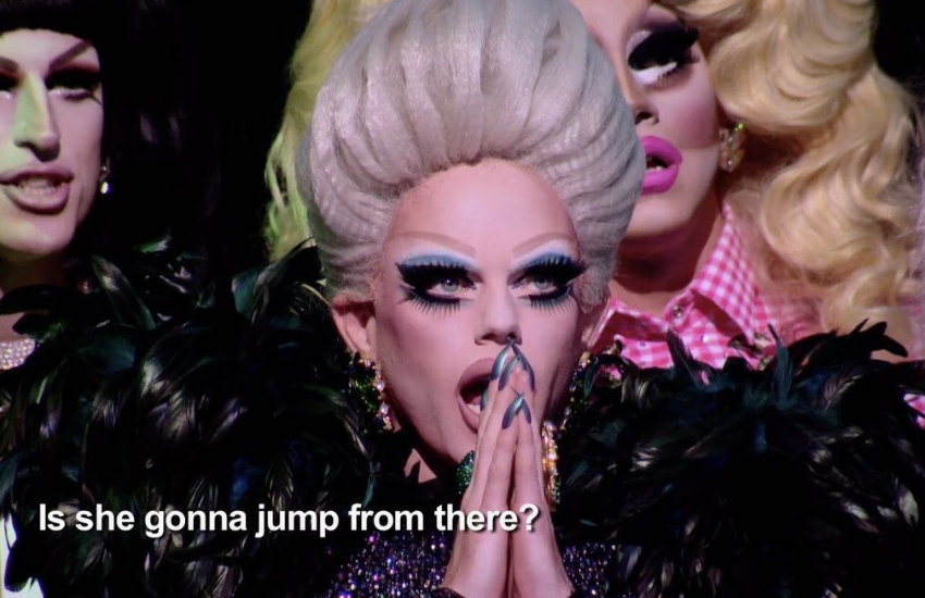 Shocked face of face of Morgan McMichaels
