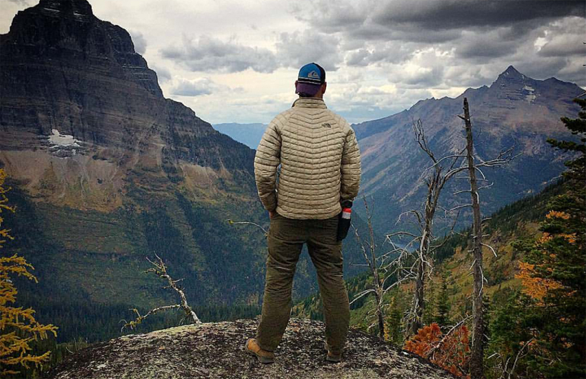 Michael Lenington in Glacier National Park in Montana's Rocky mountains