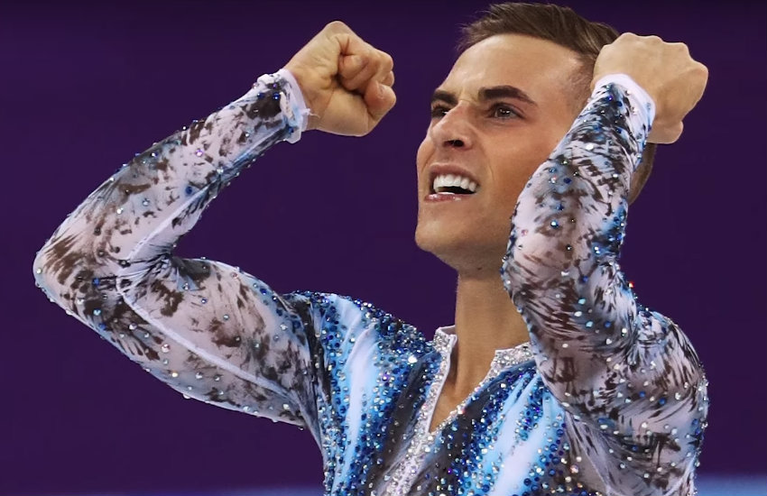 Adam Rippon after his bronze medal performance.