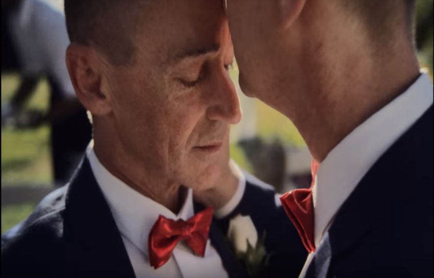 iPhone X advert same-sex marriage