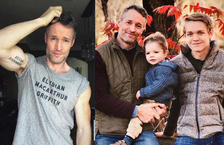 Single gay dad Bill Tamlyn and sons Charlie and Liam