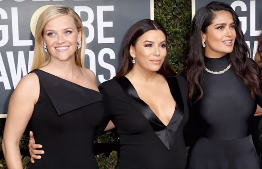Women wore black to the Golden Globes for the Time's Up movement.