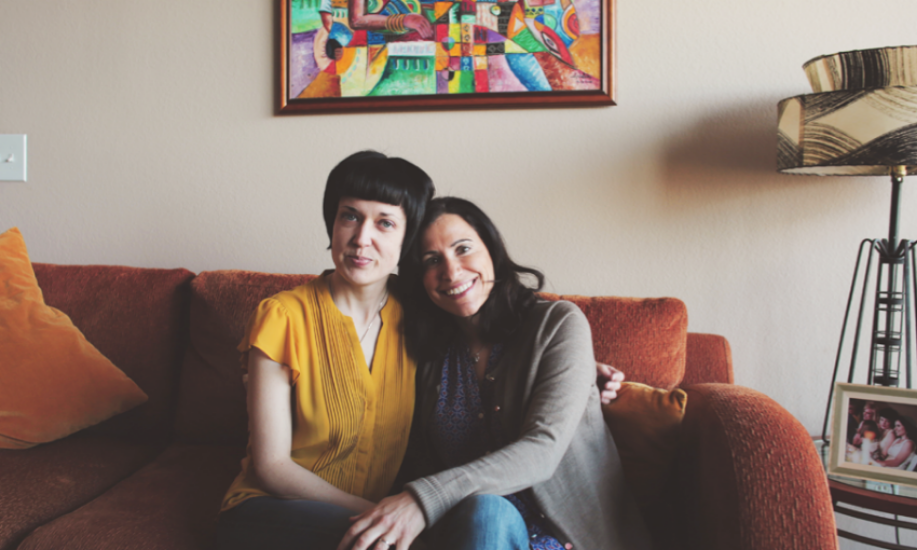 Same sex couple Fatma Marouf and Bryn Esplin of Texas