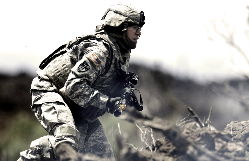 A soldier in the US military in Hawaii.