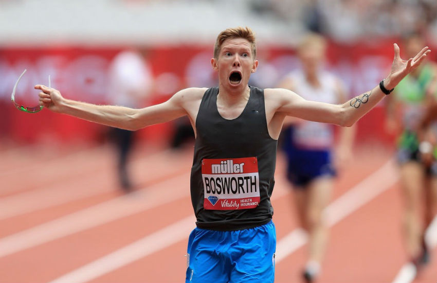 Tom Bosworth breaking the world record at the Anniversary Games