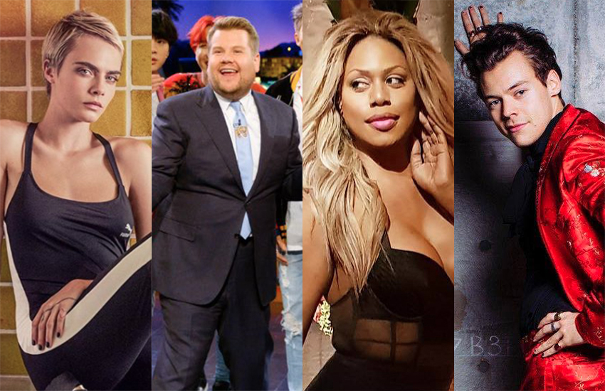 Cara Delevigne, James Corden, Lavern Cox and Harry Styles