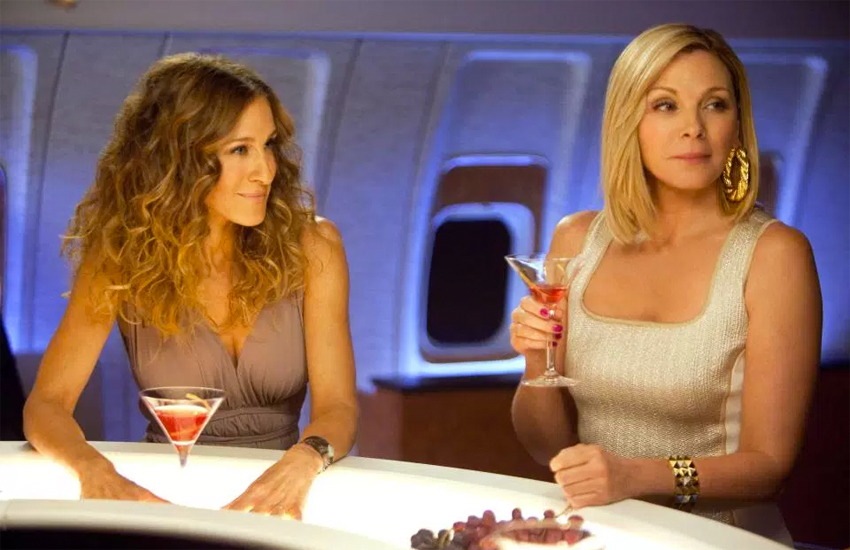 Sarah Jessica Parker and Kim Cattrall in Sex and the City 2