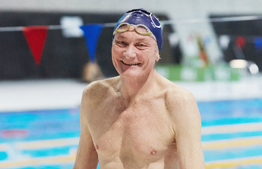 Christopher Preston rediscovered his love of swimming in his 60s