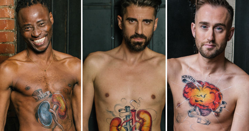 HIV positive men take part in the HIV is: Just A Part Of Me campaign