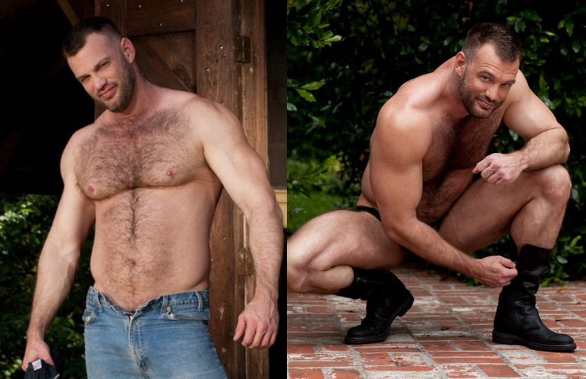 Aaron Cage (real name Scott Sherwood) as gay porn star for Colt Studios