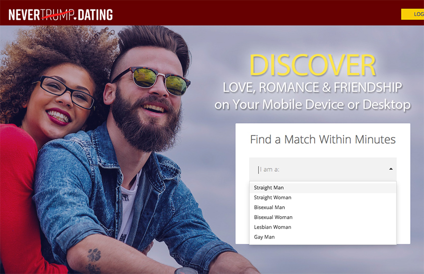 Never Trump dating site launches