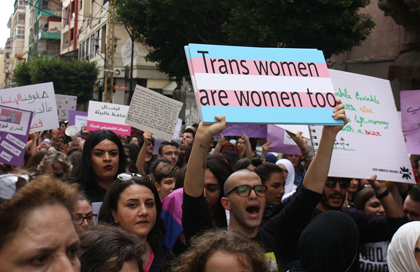 People protest for trans rights in Lebanon | Sinine Nakhle