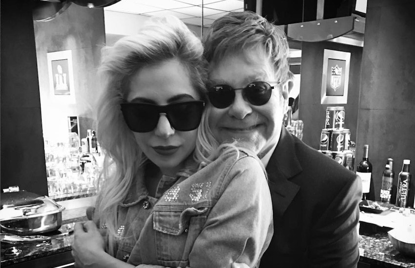 Elton John posting a picture of the duo on her birthday | Photo: Instagram