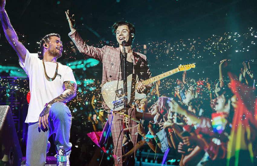 Meet the One Direction fans who have been turning concerts into rainbows for five years now | Photo: Liam Payne/Harry Styles Instagram