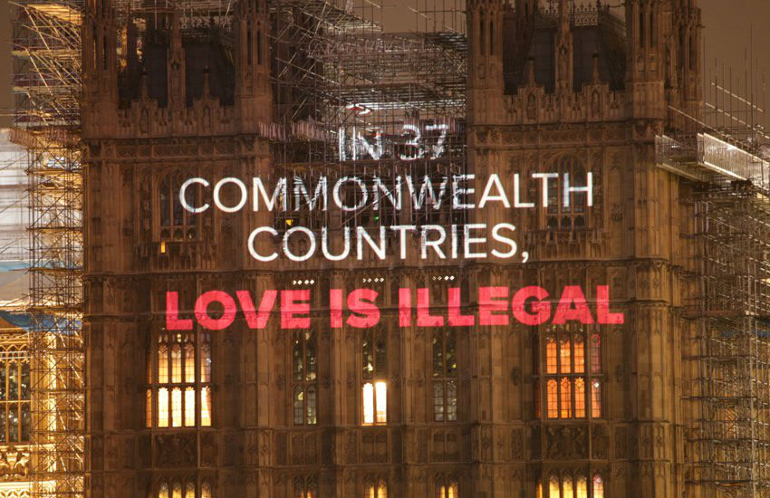 One of the projections on Westminster about Commonwealth laws