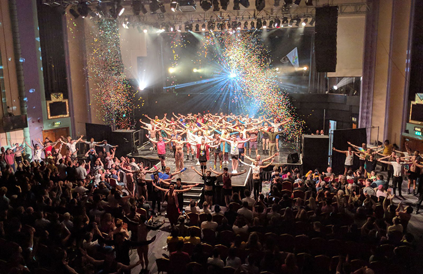 The GMDC performs at the charity gala at the Troxy in London