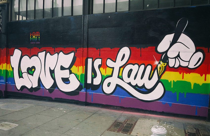 Love is Law graffiti in the United States