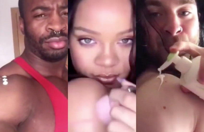 Muscled guys hilariously recreate Rihanna Fenty Beauty video