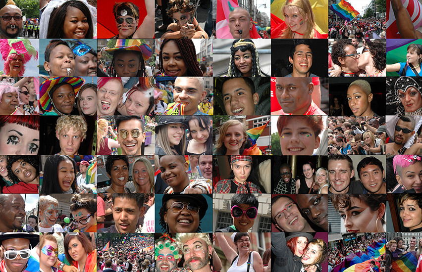 Faces of people for Digital Pride.