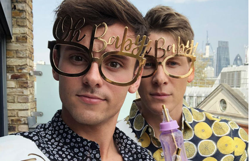 Tom Daley And Dustin Lance Black Throw Surprise Baby Shower