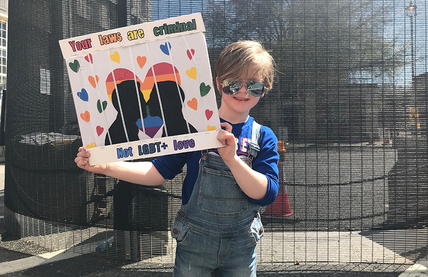 This 7-year-old protestor is fighting against global homophobic laws