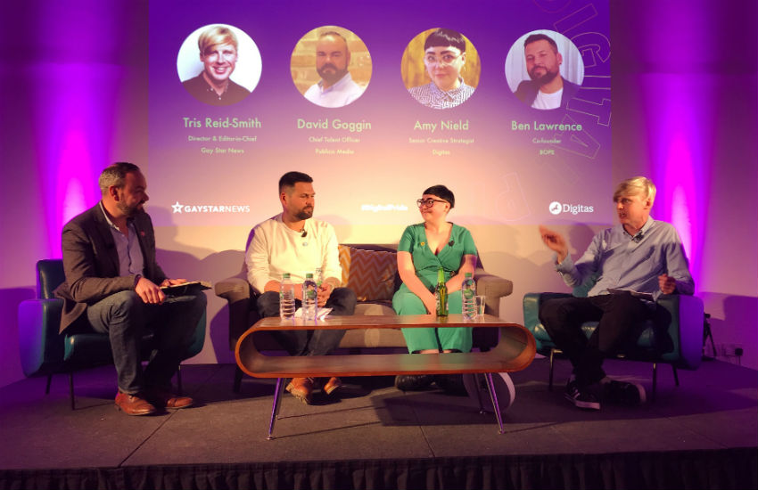 The panel discussion hosted by Digitas as part of Digital Pride 2018