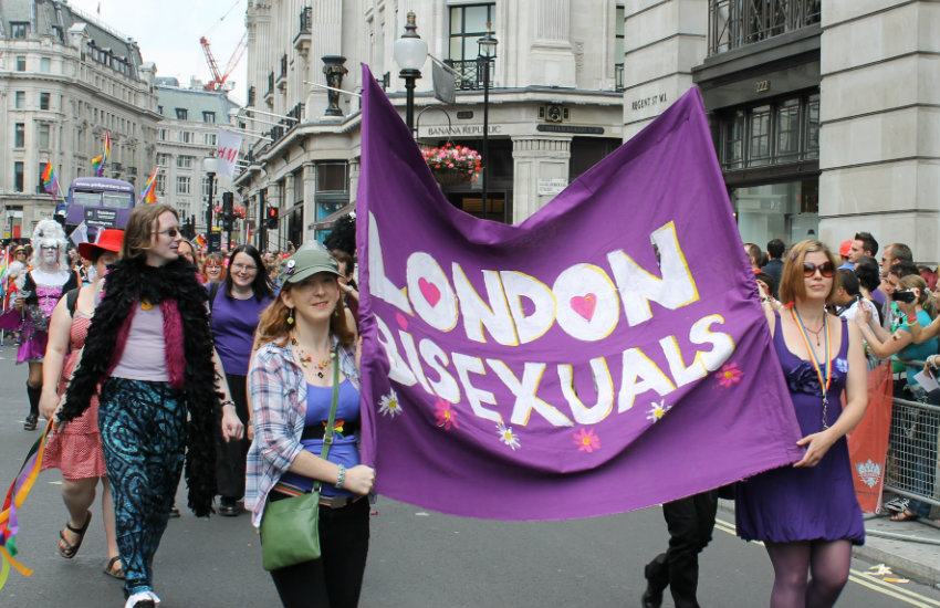 Bisexual group at London Pride