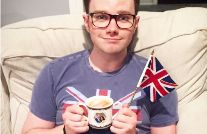 Chris Colfer reacts to the Royal Wedding