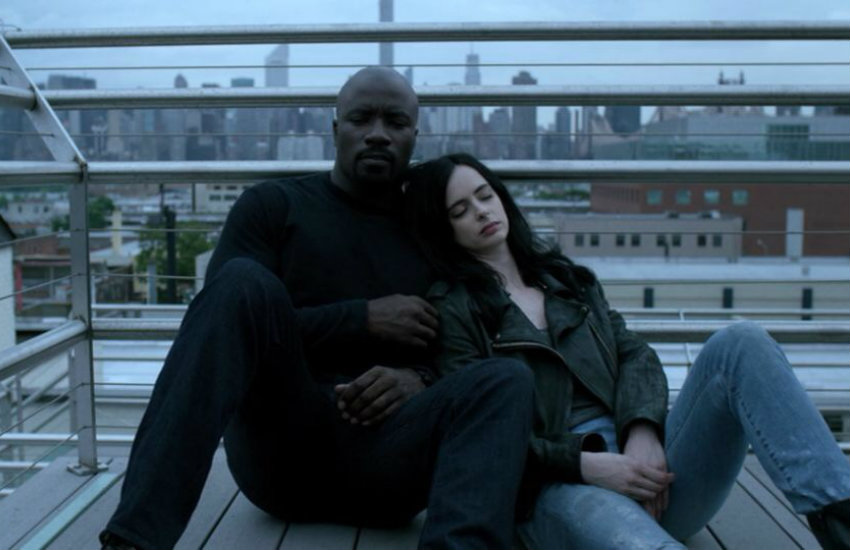 Luke Cage and Jessica Jones in the Marvel Netflix series
