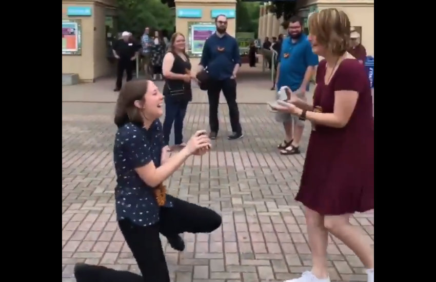 The couple proposal