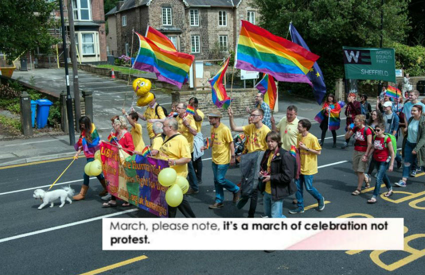 Sheffield Pride parade 2017