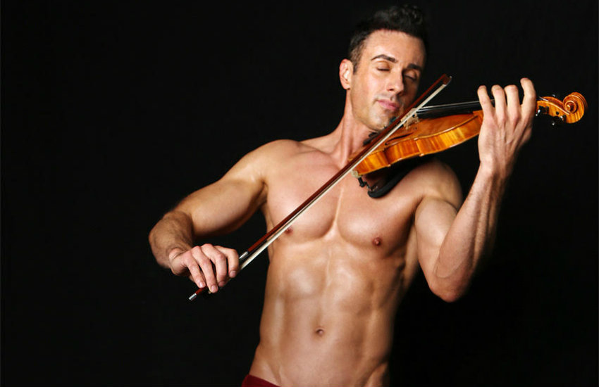 Matthew Olson, the Shirtless Violinist