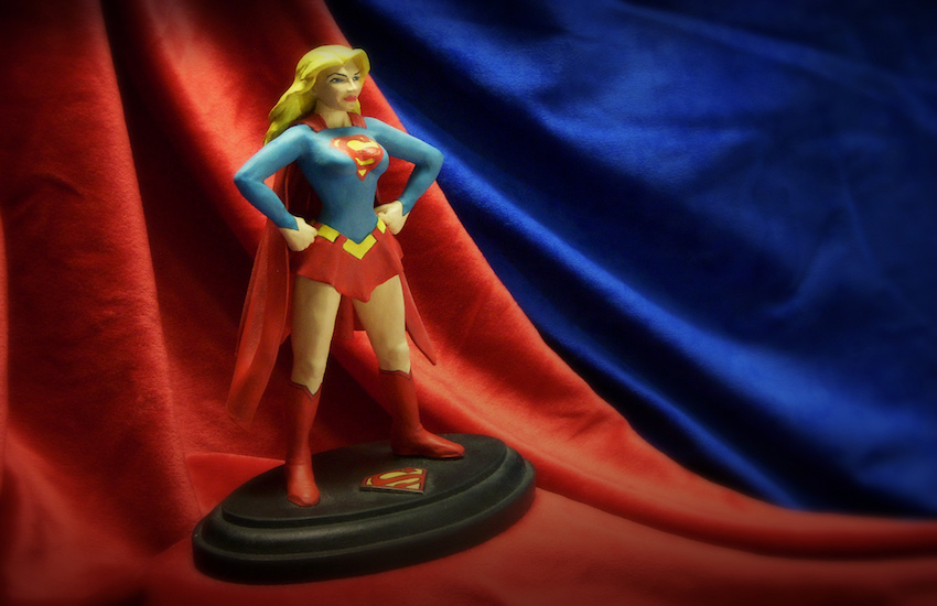 A handmade Supergirl figurine from 1999