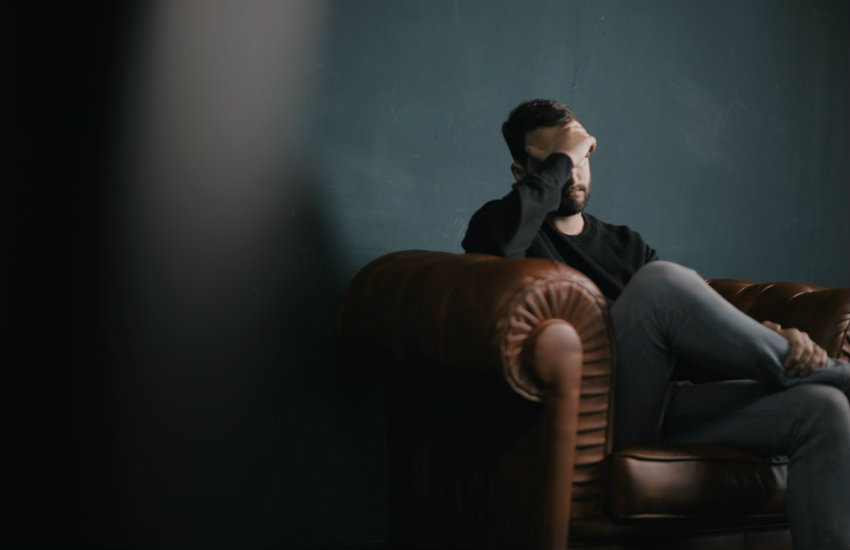 A person in therapy