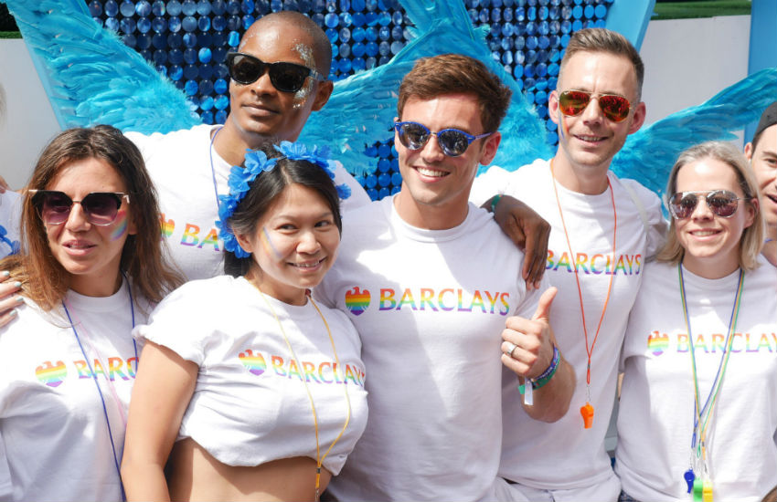 Tom Daley was among those on the Barclays Pride in London float last year