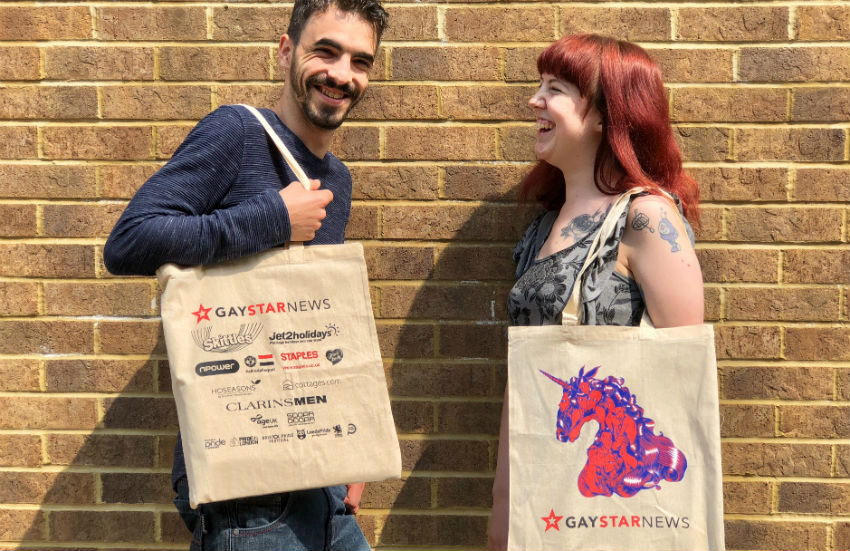 This year's Gay Star News Pride bag design is unicorn inspired