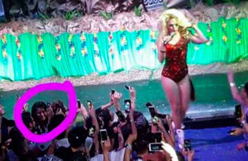 Willam posted a picture and circled the person who stole the dress