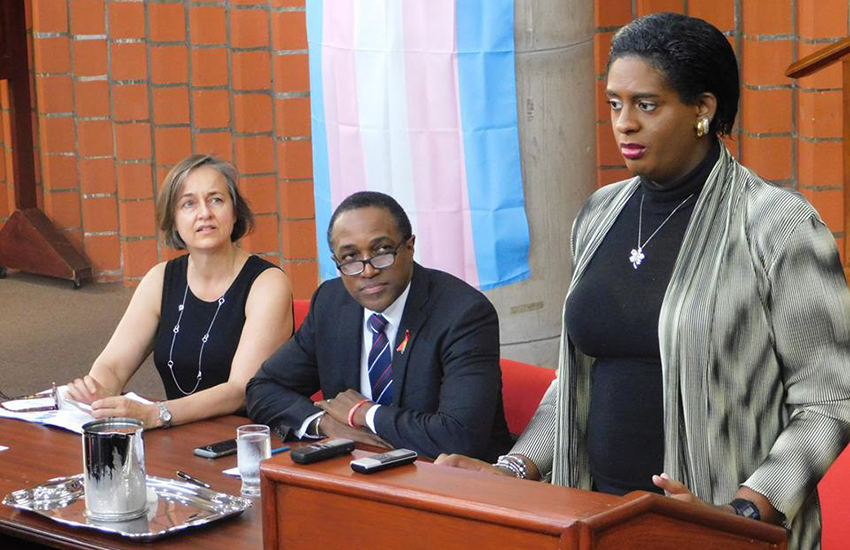 Alexa Hoffmann unveiling a challenge to the sodomy law in Barbados