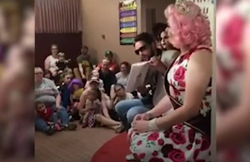 The drag queen story time that the pastor interrupted