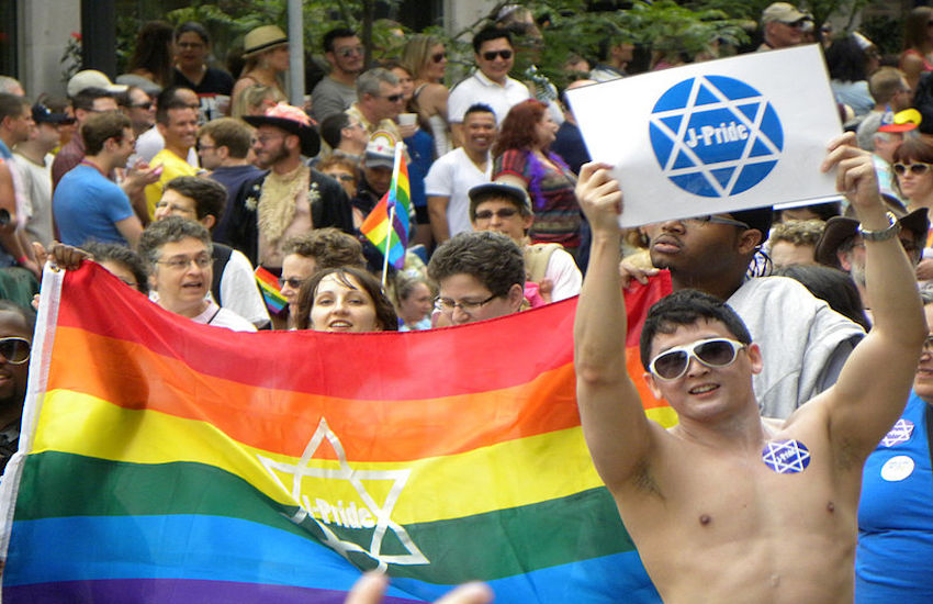 Jews marching at Twin Cities Pride in Minnesota, 2011