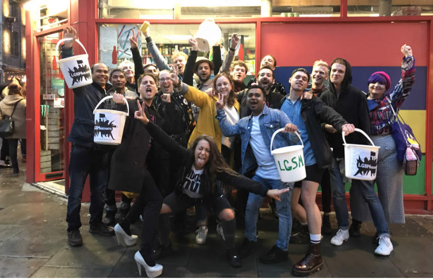 A group of activists fundraising to help LGBTI minorities