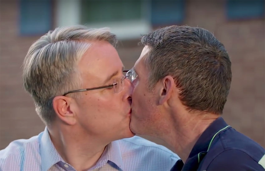 This Democrat politician aired a same-sex kiss with his husband during Trump's fave Fox News show