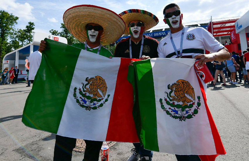 Mexico fans at the World Cup