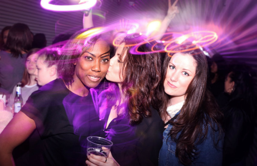Women out at SHE Soho in London, one of the world's many lesbian bars