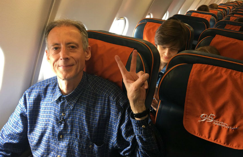 Peter Tatchell flies home to UK