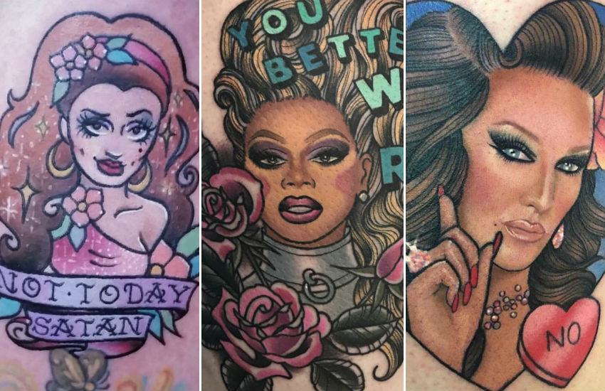 Just three incredible Drag Race-inspired tattoos